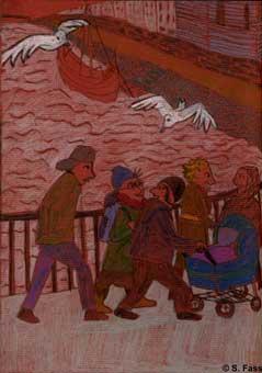 bremen Spaziergang über die Wilhem-Kaisen-Brücke zum weihnachtsmarkt
