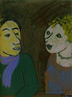 bremen Hannelore und Anika im café engel, viertel, ostertorsteinweg