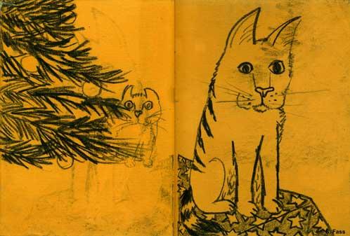 bremen Kitty und Garfield weihnachten
