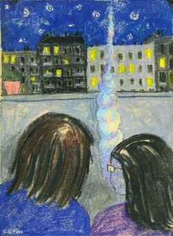 berlin, balkon zur bornholmer straße, prenzlauer berg