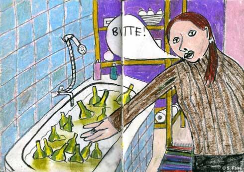 berlin, Katrin und Bier in lenas badewanne