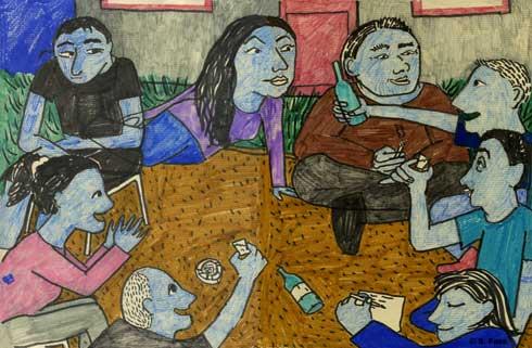 chamonix, trinken bei sonja und robert