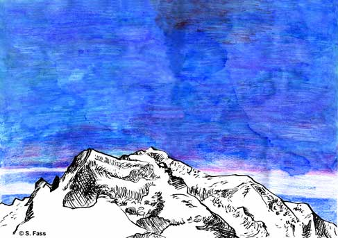 chamonix. Mont Blanc Panorama