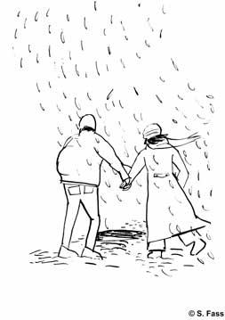 Regen in chamonix