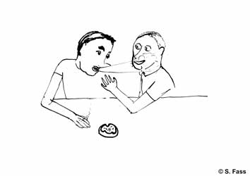 chamonix. Olivier und Jérémy rauchen