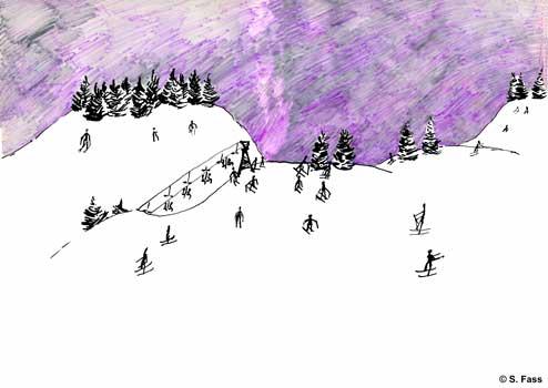 chamonix, Schneelandschaft