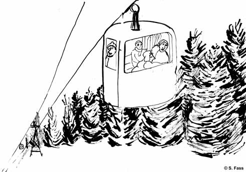 chamonix, Schneekabine in schneekabine