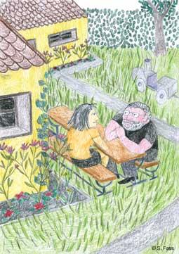 wilhelmshaven, Gespräch im Garten