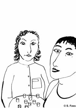 leipzig, Medizingläser in der galerie der hgb