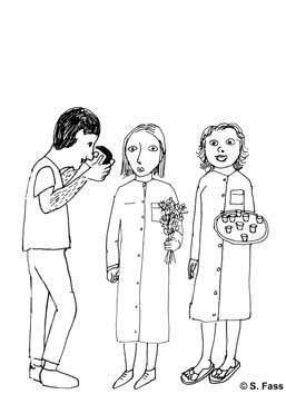 leipzig, Krankenschwestern in der galerie der hgb