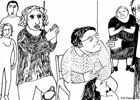 leipzig, Notenverkündigung in der galerie der hgb, thomas müller