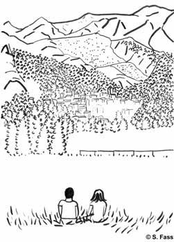 chamonix, panorama berge und tal