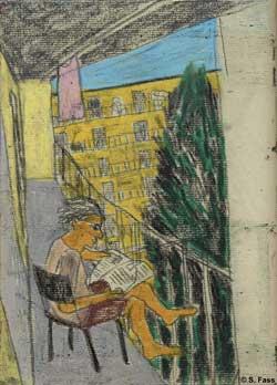 berlin niki auf ihrem balkon in neukölln
