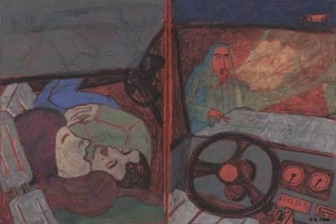 nachtfahrt von bremen nach leipzig, studitransporter