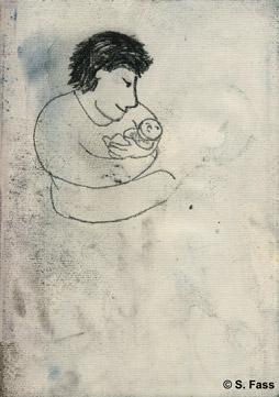 ich habe das Neugeborene im Arm in Dublin Irland