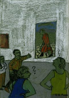 Aufbau von Klaras Diplomausstellung in der Galerie der HGB Leipzig