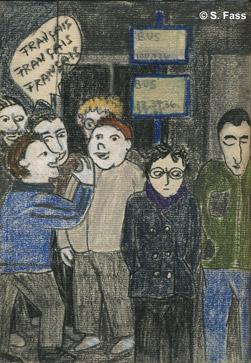 viele Franzosen in der Dubliner Innenstadt in Irland