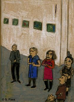 Klaras Diplompräsentation in der Galerie der HGB Leipzig