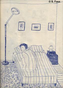 in Großmutters Schlafzimmer ausruhen in Bréal