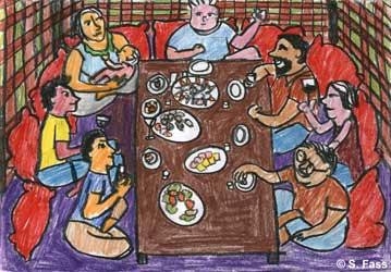 Vitalia und Serafim laden uns in ein aserbaidjanisches Restaurant ein zu Serafims Geburtstag