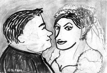 Doppelportrait zur Hochzeit von Vitalia und Serafim in Kiew/Ukraine
