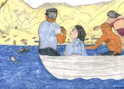 Balaklawa (Ukraine): mit dem Boot zurück