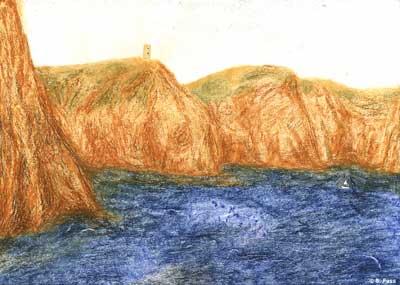 Balaklawa: die Klippen am Schwarzen Meer