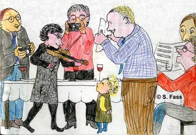 Weihnachten in Bruz (Frankreich): ich spiele Weihnachtslieder auf der Geige