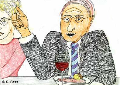Weihnachten in Bruz (Frankreich): Oliviers Vater trinkt Wein und spricht viel