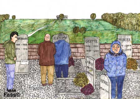 auf dem Friedhof am Totensonntag