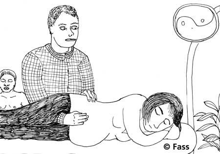 Der Ostheopath kann das Kind zum Drehen bringen bei Beckenendlage