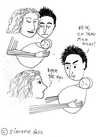 anika und gustave mit baby  lou