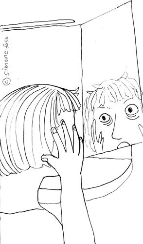 in leipzig gucke ich on den spiegel und sehe, dass ich deutlich mehr Falten habe und erschrecke mich.